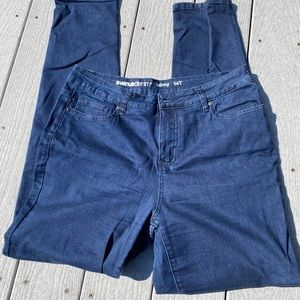 Like new blue denim skinny jeans